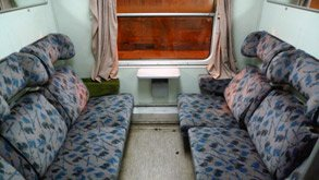 Compartment in the Zagreb to Sarajevo train