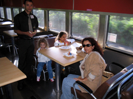 Cafe on train from Vitoria to Belo Horizonte, Brazil