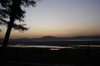 Sunset over the Irrawaddy, from the Bagan Thande Hotel