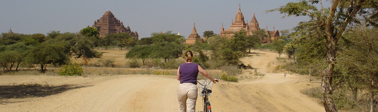 Exploring Bagan by bike