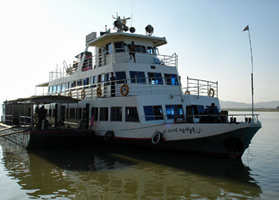The Mandalay-Bagan express ferry