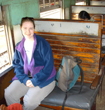 First class car, Mandalay-Lashio train.