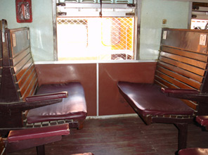 First class car, Rangoon-Mandalay express train.