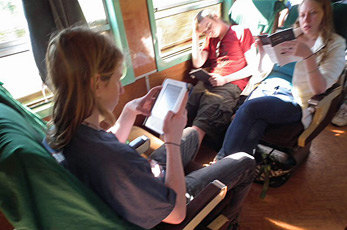Upper class seats on the Mandalay to Lashio train