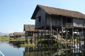 Village on stilts in Inle Lake, Burma