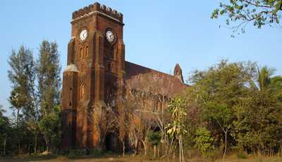 The old British church at Moulmein (Mawlamyine)