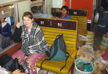 Ordinary class seats, Mandalay-Lashio train.