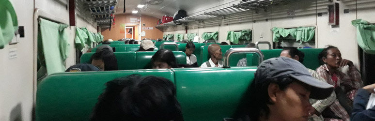 On the overnight train fro Yangon to Pyay
