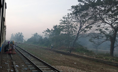 The train from Pyay to Yangon