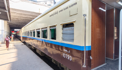Mandalay to Rangoon sleeping-car