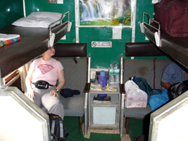 4-berth special sleeper, train 17 Rangoon to Mandalay.