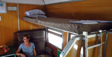 4-berth special sleeper, train 5 Rangoon to Mandalay.