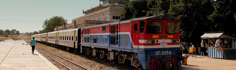 Train from Yangon arrived at Bagan