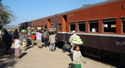 The Thazi to Shwenyaung (Inle Lake) train, Myanmar