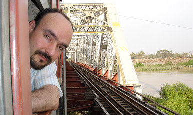 Me, on the train to Mandalay