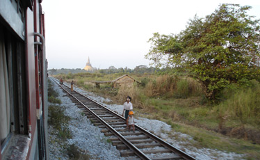 On the Rangoon (Yangon) to Mandalay train