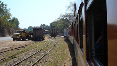 On the train to Moulmein (Mawlamyine)