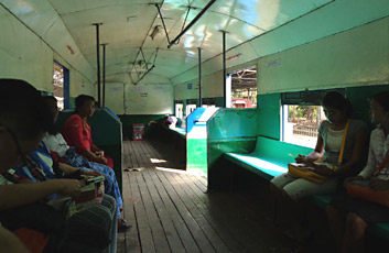 Inside a Yangon Circle Train