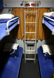 4-berth couchettes on the train from Amsterdam & Cologne to Warsaw