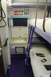 Caledonian sleeper train from London to Scotland:  Standard class 2-berth