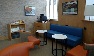 Caledonian Sleeper lounge at Inverness
