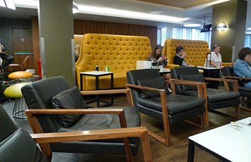 Virgin Trains first class lounge at London Euston
