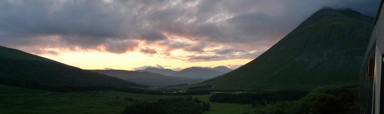 Sunset with Beinn Dorain in the background