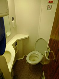 Sleeping-car toilet