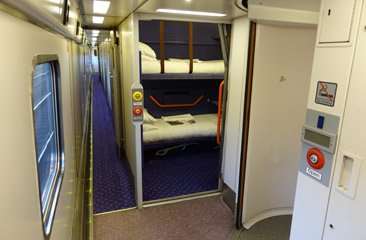 Caledonian Sleeper wheelchair accessible compartment