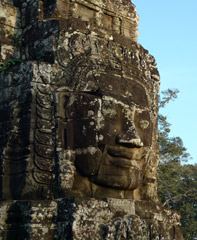 Face carving on Angkor Thom