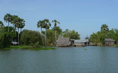 Scenery from the speedboat to Siem Reap