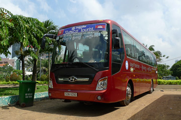 Sapaco bus to Phnom Penh at Saigon