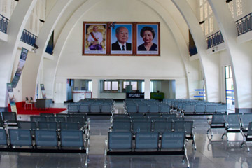Inside Phnom Penh railway station