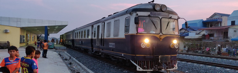 The Phnom Penh to Poipet train