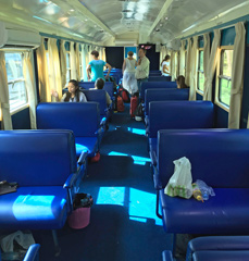 Cambodian train seats