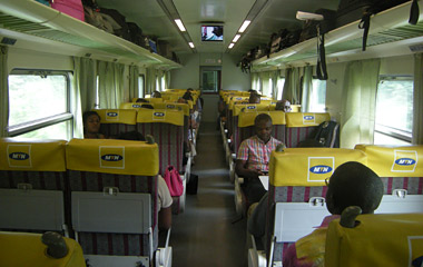 1st class on train from Douala to Yaoundé