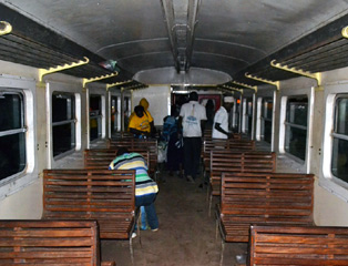 Train from Mbanga to Kumba, Cameroon