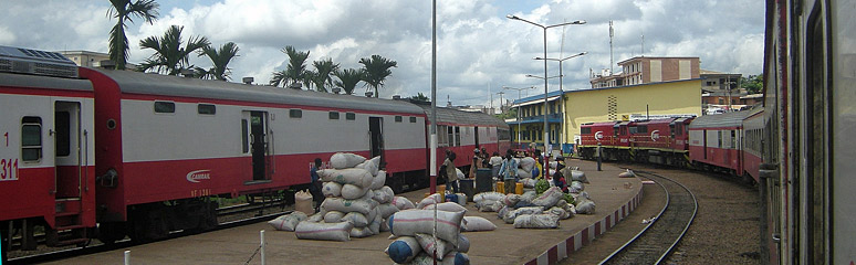 Yaounde station with trains to Douala
