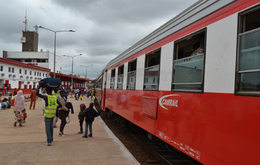 Train from Ngaoundere, arrived at Yaoundé