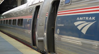 Amtrak Northeast Regional train at Boston