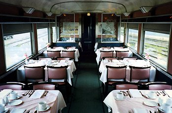 Dining car on the 'Canadian'