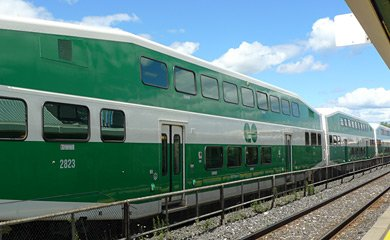 GO train from Toronto to Burlington