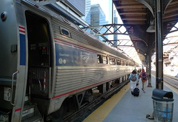 The Maple Leaf train from Toronto to New York