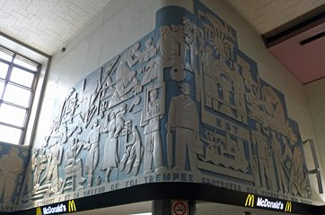 The art deco freize at Montreal Central Station