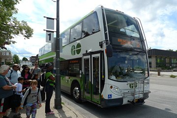 GO Transit bus from Burlington station to Niagara Falls