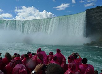 Horseshoe Falls from the Hornblower cruise boat