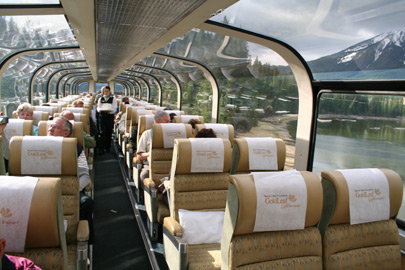 Rocky Mountaineer Gold Leaf seating