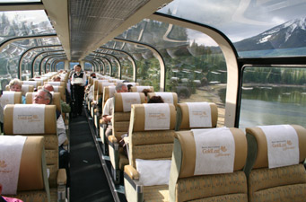 Rocky Mountaineer:  Gold Leaf dome car