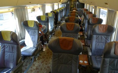VIA Rail business class seats