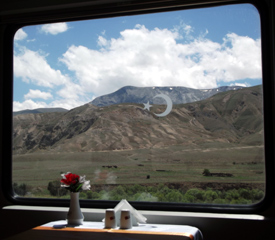 View from restaurant car in Turkey